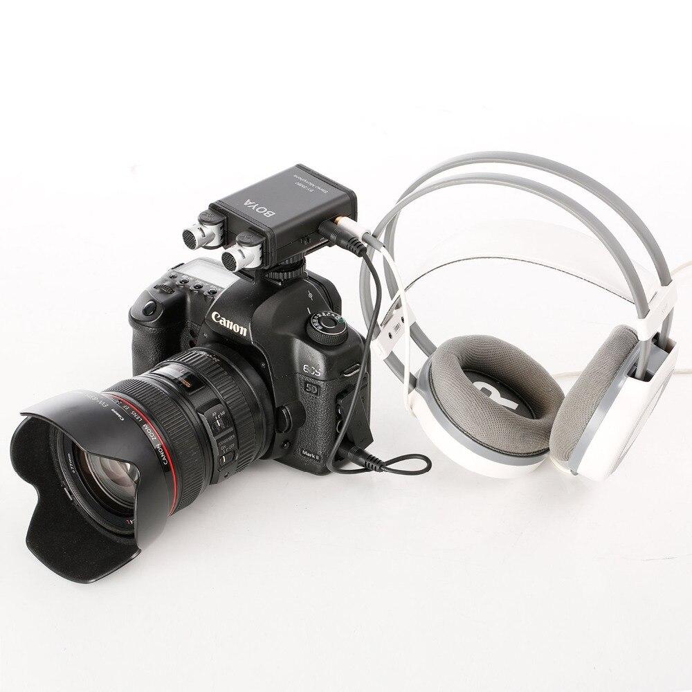 BOYA BY-SM80 PassFilter Stereo kaameramikrofon reaalajas - Kaasaskantav audio ja video - Foto 2