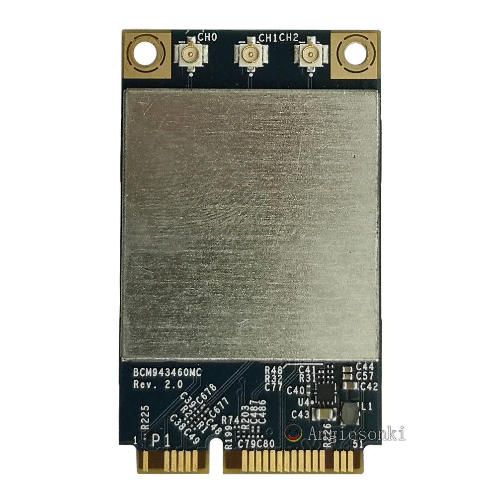 Broadcom BCM943460MC 802.11 a/b/g/n/ac 3x3 Mini carte WiFi sans fil PCIe 2.4G & 5G 867 m pour AP. PLEBroadcom BCM943460MC 802.11 a/b/g/n/ac 3x3 Mini carte WiFi sans fil PCIe 2.4G & 5G 867 m pour AP. PLE