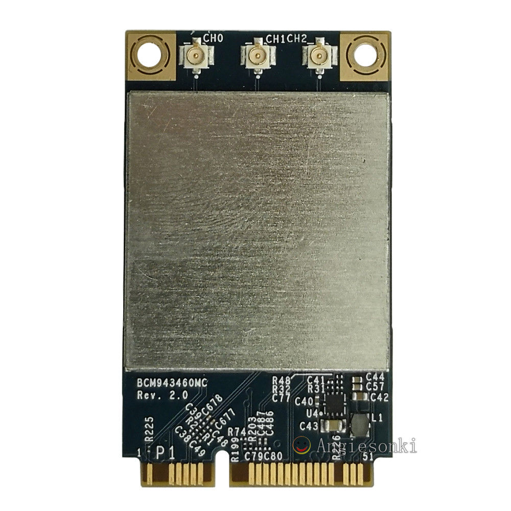 Broadcom BCM943460MC 802.11 a/b/g/n/ac 3x3 Mini carte WiFi sans fil PCIe 2.4G & 5G 867 m pour AP. PLE