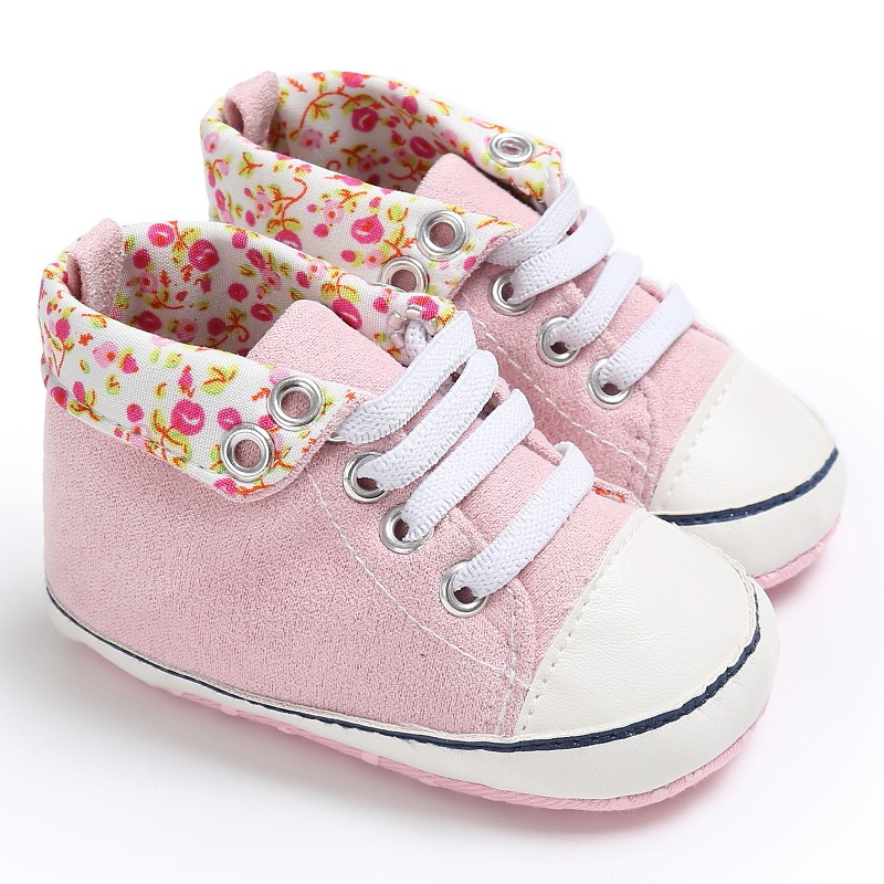 Baby shoes Newborn Lace-Up Sports Sneakers Infant Toddler Classic Casual High Top First Walkers