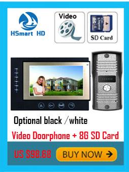 7 inch Monitor Color Video Door Phone Intercom System