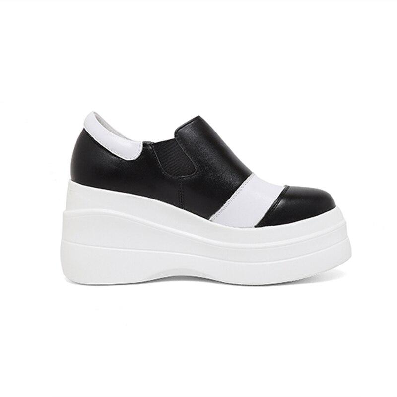 Appartements Véritable Matures Offre Ins Classiques Cuir Noir Nouvelle blanc Femmes Mode Chaussures Élégant De En Spéciale Sarairis HFpv6wqn