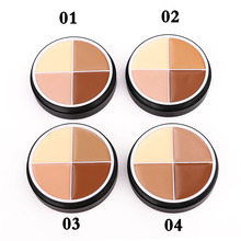 4 Colors Makeup Face Concealer Cream Long Lasting Waterproof Camouflage Palette Cosmetics Adjustable Color