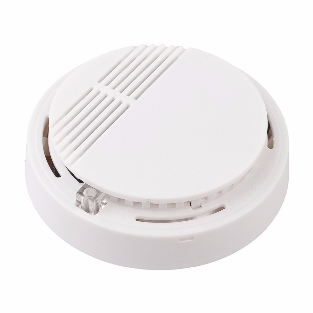 YobangSecurity 50pcs/Lot Photoelectric Smoke Detector Fire Alarm Sensor for Home Security Independent Smoke Sensor White