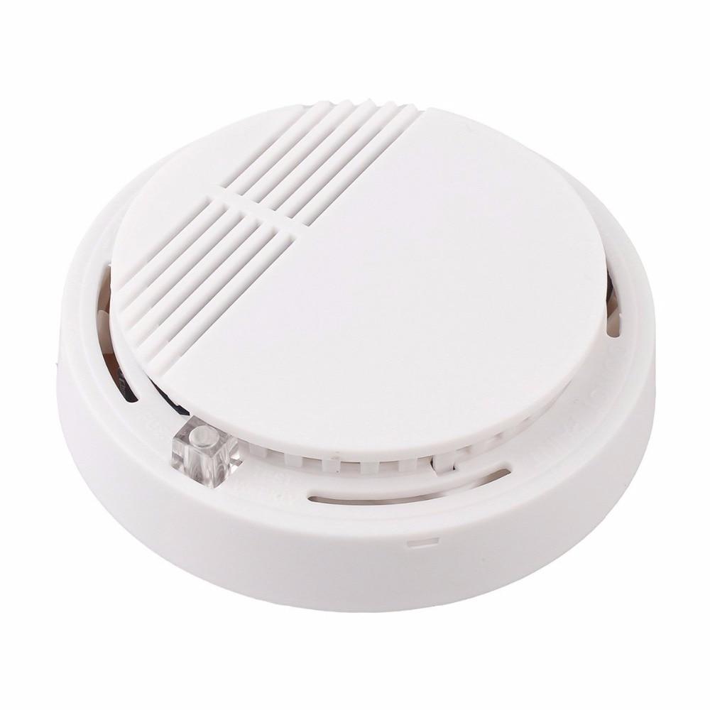 YobangSecurity 50pcs/Lot Photoelectric Smoke Detector Fire Alarm Sensor for Home Security Independent Smoke Sensor White