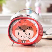 Children Cute Cartoon Alarm Clock Snooze Night Light Pokemon Toys Talking Clock Table Watch Despertador Bedside Clocks 50A0105(China)