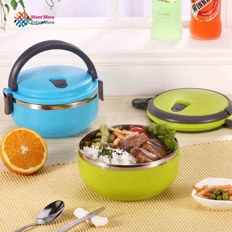Stainless Steel heat preservation Benton bento box for Kids Thermal Food Container Food Box bento box Portable L1