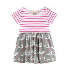 Jumping meters new style baby girls dress kids new designed cute cartoon dress baby girls top quality summer dresses 2017