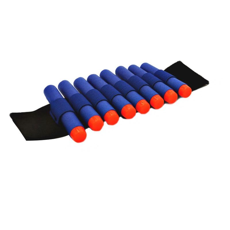 1 шт. запястье с 10 шт. синий мягкий дырочку 7.2 см вместимость Дартс игрушечный пистолет пули для nerf серии бластеров подарок для детей