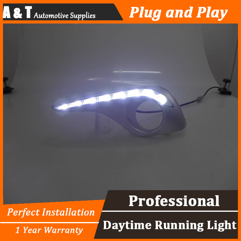 car styling For Toyota Highlander LED DRL For Highlander led fog lamps daytime running light High brightness guide LED DRL A auto clud car styling for toyota highlander led drl for highlander high brightness guide led drl led fog lamps daytime running l