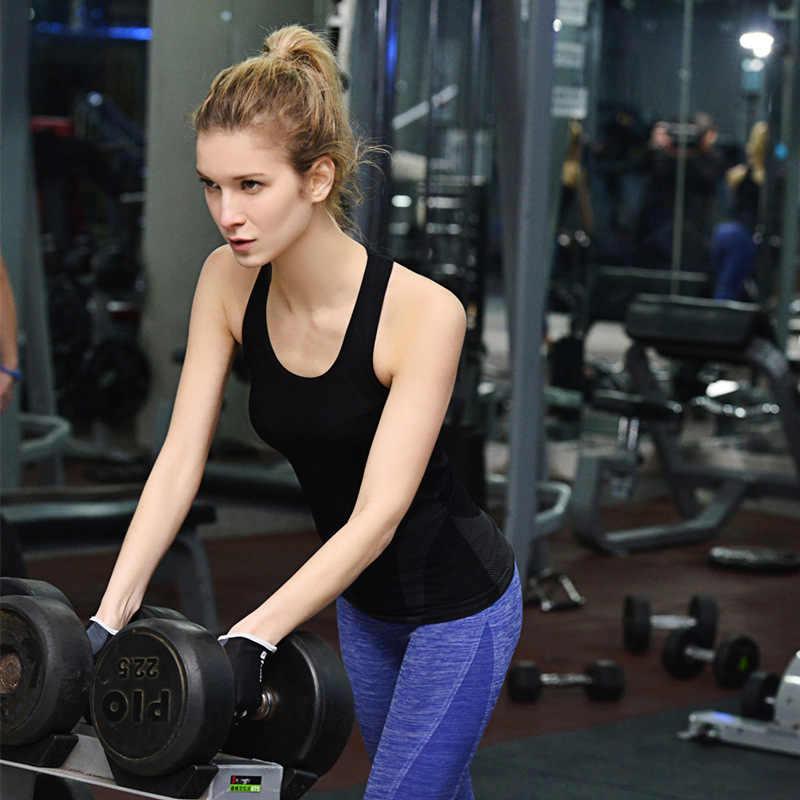 Detector Women Sleeveless Running Vest Tank Tops Quick Dry Loose Vest Gym Fitness Sport Singlet for Jogging