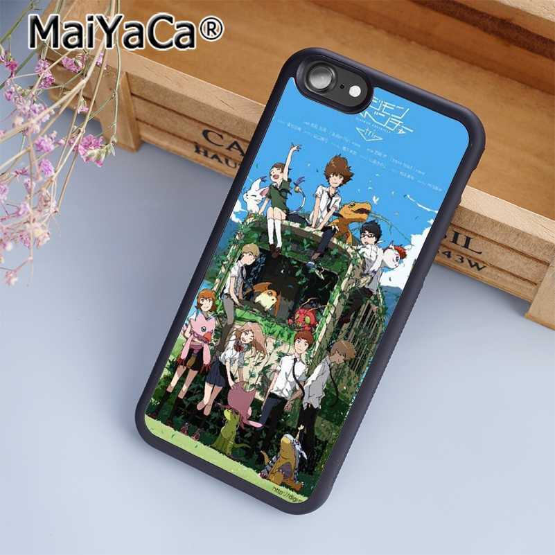MaiYaCa Digimon Adventure Tri Japan Phone Case Cover for iPhone 5 5s 6 6s 7  8 Plus X soft case for samsung S6 S7 S8 edge Plus