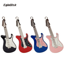 Creative Metal Electric Guitar Pendrive 8gb 16gb 32gb Wedding Gift Usb Flash Drive Funy Musical Instruments Disk On Key U Disk