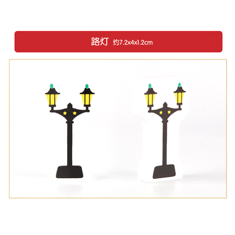 P166 5pcs street lights traffic track game essential scene accessories applicable to all kinds of Thomas train car game