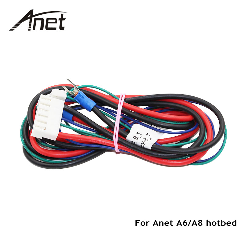Anet A6 A8 Hotbed Cable with Thermistor for Mendel RepRap i3 3D Printer Heated Bed cable