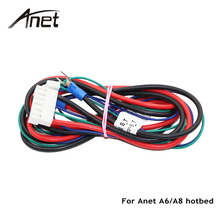 Anet A6 A8 Yatağı Kablo Termistör ile Mendel için RepRap i3 3D Yazıcı Isıtmalı Yatak