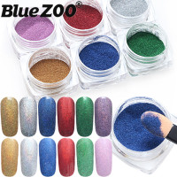 New 2016 Nail Art Chrome Pigment Glitters Dust 6 Colors Rainbow Pigment Chrome Powder Set Mirror