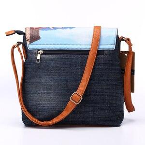 Image 5 - Annmouler Vintage Shoulder Bag Womens Fashion Demin Crossbody Bag Eiffel Tower Print Messenger Bag for Ladies Casual Tote Bags