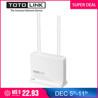 TOTOLINK ND300 300Mbps Wireless ADSL 2/2+ Modem Wifi Router, Wi Fi Repeater/Modem/AP/4 port Switch in One, Portuguese Firmware