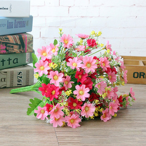 Image 2 - 1 ช่อดอกไม้ 28 หัวCinerariaประดิษฐ์ดอกไม้ตกแต่งบ้านสำนักงานSilk Daisyประดิษฐ์ตกแต่งในร่มกลางแจ้งA12150