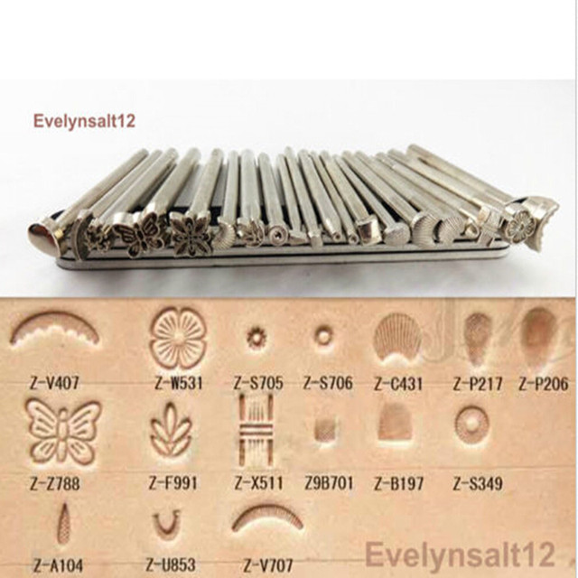 20 Pcs Leather Stamping DIY Tools Set Craft Tool Kit For Practical