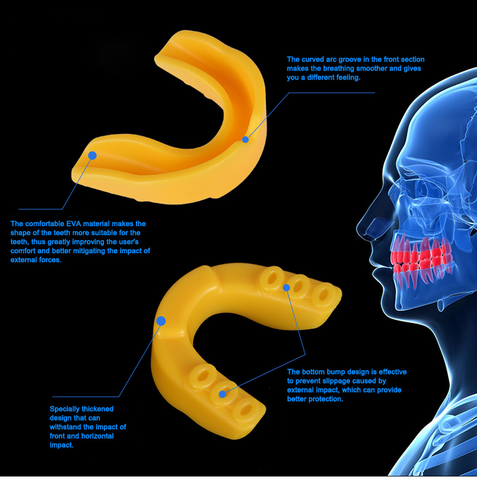 WorthWhile Sports Mouth Guard Made with EVA Material for Teeth Protection of Kids/Adults 10