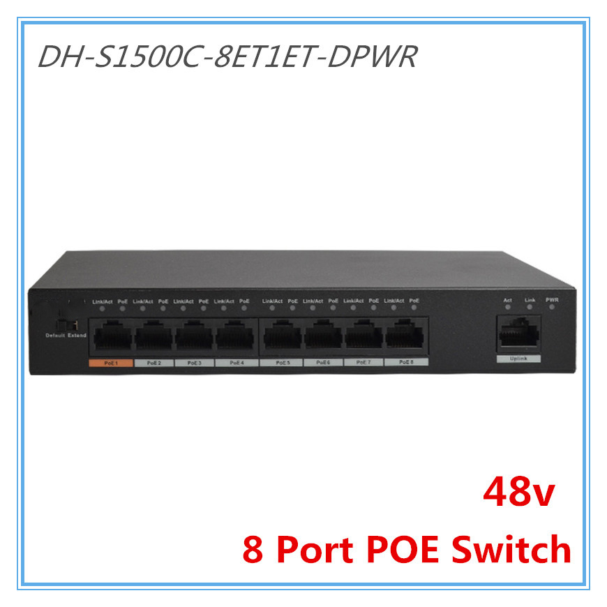 Dahua 8 Ports POE Switch Standard 48v Not burn the machine 250 meters transmit for Security