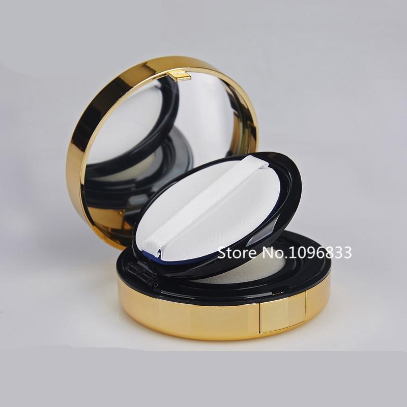 Classical Black Gold CC Air Cushion Foundation Case Top Grade BB Cream Container DIY Plastic BB Cream Packing Box Container Tool органайзер cross case cc 1008 black