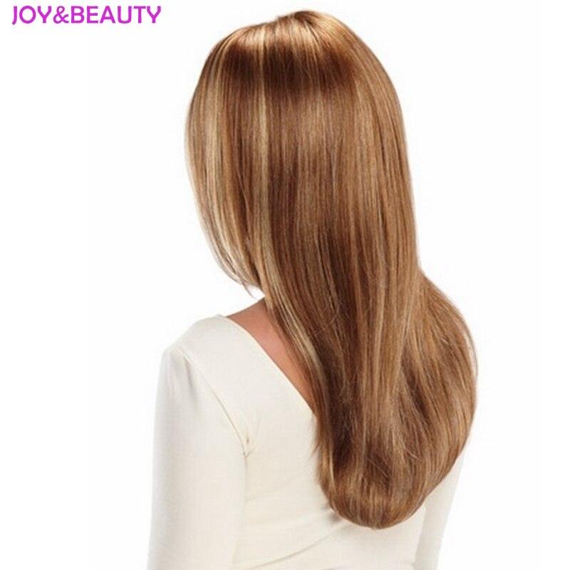 Image 3 - JOY & BEAUTY волосы женские длинные волнистые парик синтетические волосы коричневый блонд смесь термостойкие волокна 24 дюйма длинные-in Синтетические парики без сеточки from Пряди и парики для волос on AliExpress
