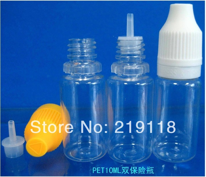 FREE Shipping e cigarette Dropper With tamper evident caps and Child Proof Safe Caps PET e Liquid Bottles 30ml