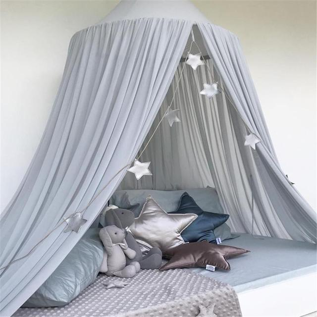 Candy Color Pure Children's Cloth Dome Tents Bed Curtain Princess Baby Bedroom Photography Prop Mosquito Net Bed mattress