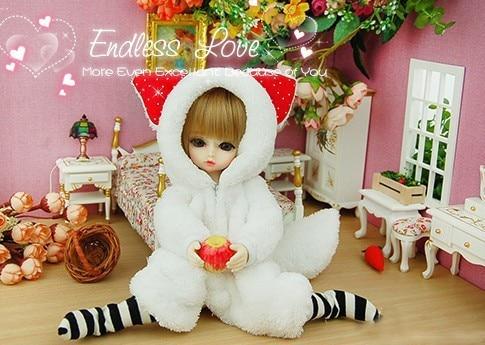 Cute Little Fox Pajamas Animal Outfit For BJD YOSD 1/6 Doll Clothes AL12