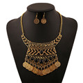 New Arrival Vintage Boho Coin Chuncky Tassel Necklaces Fashion Gold&Silver Plated Turkish Necklace Indian Style Jewelry