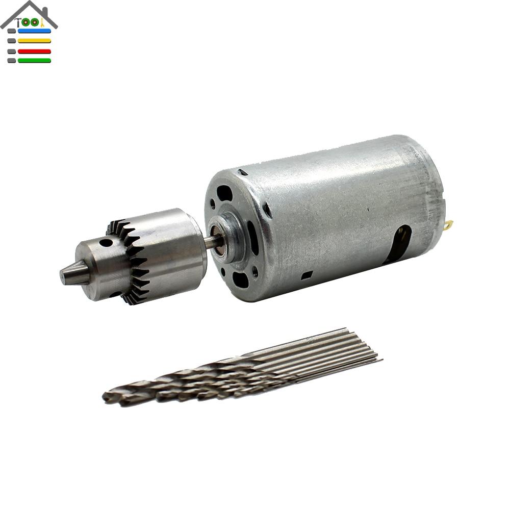 Dc12 24v Electric Motor Hand Drill Pcb Press Drilling Bit