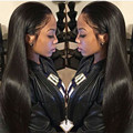 Top 7a Peruvian Virgin Hair Straight Lace Front Wig Natural Color Peruvian Straight Full Lace Wigs Human Hair With Baby Hair