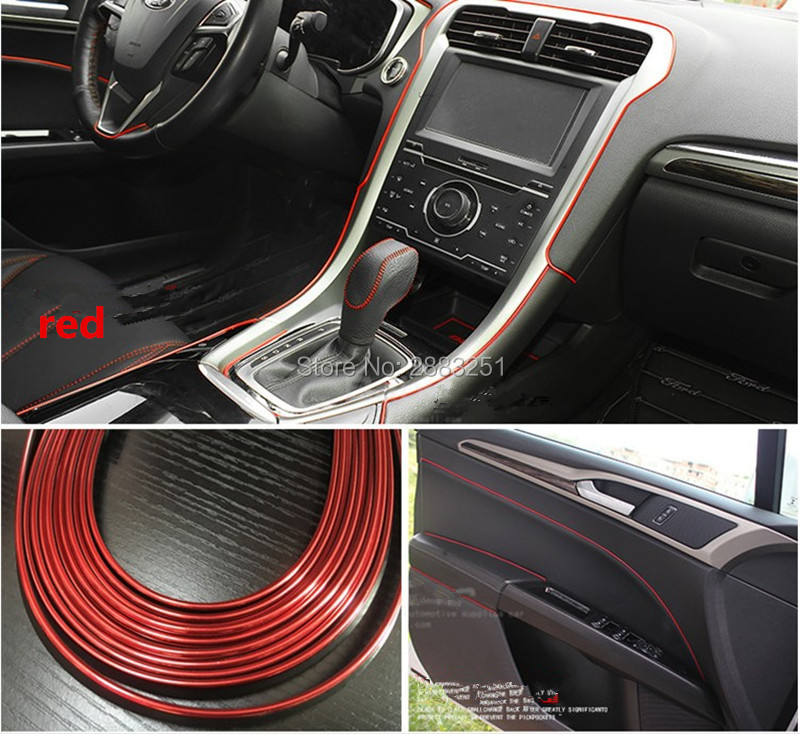 Update 3 Car Styling Sticker Insert Type Air Outlet Decoration Strip For Peugeot 307 308 207 3008 2008 407 508 206 Accessories