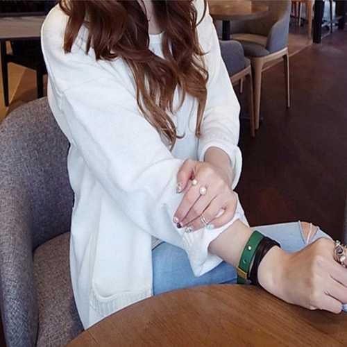 Горячая мода простой белый большой маленький искусственный жемчуг регулируемое отверстие Серебряное Золотое кольцо для женщин ювелирные аксессуары для рук