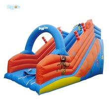 7 М * 4 М * 4 М Открытый ПВХ Коммерческих Надувной Горкой Прыжки Слайд Для Детей