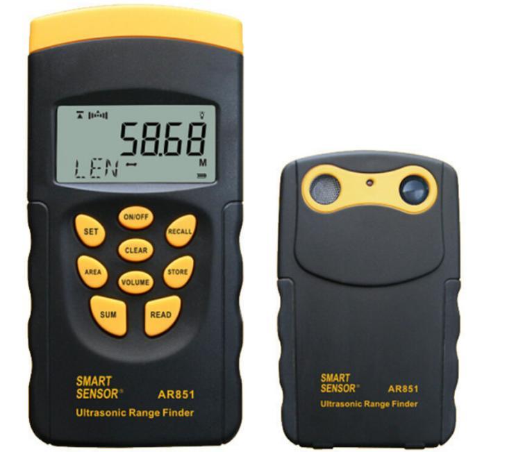 Ultrasonic Range Finder AR851 Digital Ultrasonic Distance Meter Tester