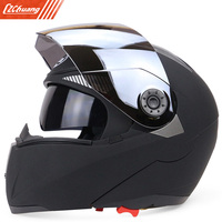 Full Face Motorcycle Helmet Dual Visor Street Bike With Silvering Visor
