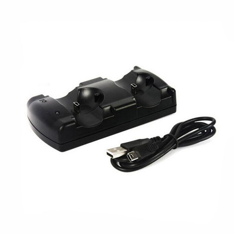 Dual Charging Holder Dock Charger Stand +USB Power Cable Cord for Playstation Dualshock 3 PS3 Gamepad Controller Move NavigationDual Charging Holder Dock Charger Stand +USB Power Cable Cord for Playstation Dualshock 3 PS3 Gamepad Controller Move Navigation