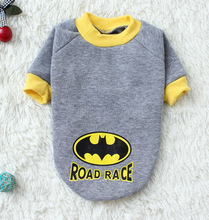 New Hot Gray Batman pattern Pet Dogs winter clothes Thick Warm Cotton sweater coat for Puppy dog cool free shipping