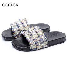 Г. Новые летние женские брендовые шлепанцы обувь с жемчугом на плоской подошве пикантные кружевные Вьетнамки модные пляжные дизайнерские шлепанцы домашняя обувь