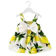 2018 летние милые Платье для новорожденных девочек лук для 1 год на день рождения праздничные платья для девочек Одежда для девочек Крещение младенцев платье принцессы