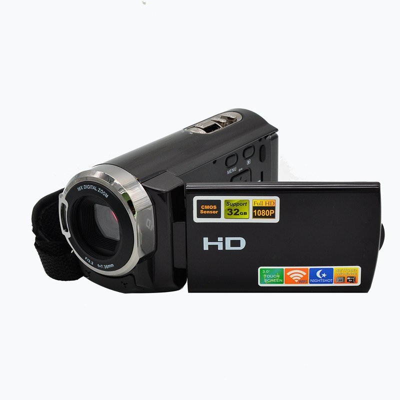 Digital Wifi Camera 16x Digital Zoom HD Digital Video Camcorder DV Support 10 Languages 3.0 LCD Touch Screen IR Night Vision
