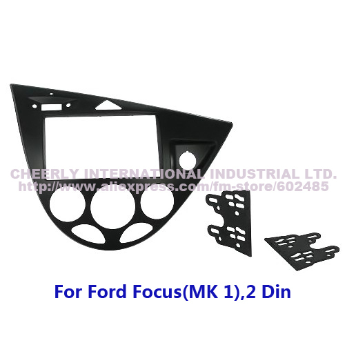 2 Din Auto Radio Frame, Dash Kit, Car DVD Panel, Fascia for Ford Focus MK1, Double Din