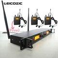 Leicozic в ухо монитор системы sr2050 iem в ухо монитор Беспроводная система 3 приемника и 1 передатчик звук студийный Звуковой Монитор