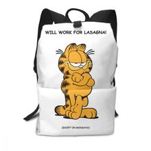 Garfield Backpack Classic Humour Backpacks Trendy Pattern Bag Multifunctional High quality Teen Men - Women Street Bags