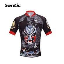 Santic Cycling Jerseys Men Short Sleeve Motocross Shirt Anti-sweat Bike Jersey Riding Bicycle Sportswear MTB Downhill Ciclismo