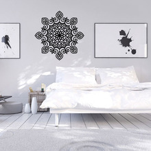 Promotion 9486 Buddhism India Mandala Wall Stickers Namaste India Removable  Creative Vinyl Wallpaper Mural Home Decoration Part 81